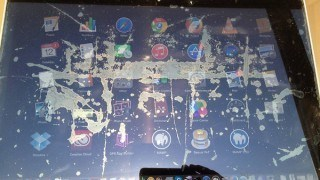 Apple MacBook Pro schermo macchiato Studioweb22.com